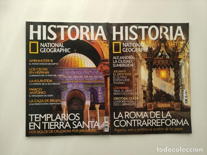 LOTE 2 REVISTAS HISTORIA NATIONAL GEOGRAPHIC Nº 42 Y 80: ROMA CONTRAREFORMA TEMPLARIOS TIERRA SANTA (Coleccionismo - Revistas y Periódicos Modernos (a partir de 1.940) - Revista National Geographic)