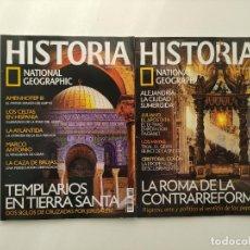 Coleccionismo de National Geographic: LOTE 2 REVISTAS HISTORIA NATIONAL GEOGRAPHIC Nº 42 Y 80: ROMA CONTRAREFORMA TEMPLARIOS TIERRA SANTA. Lote 288376073