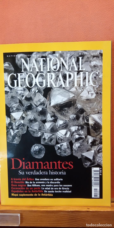 NATIONAL GEOGRAPHIC ESPAÑA. DIAMANTES SU VERDADERA HISTORIA. MARZO 2002 (Coleccionismo - Revistas y Periódicos Modernos (a partir de 1.940) - Revista National Geographic)
