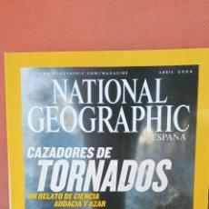 Coleccionismo de National Geographic: NATIONAL GEOGRAPHIC ESPAÑA. CAZADORES DE TORNADOS. ABRIL 2004.. Lote 289432148