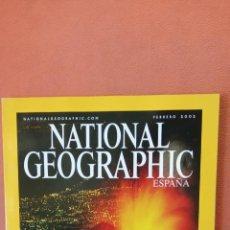 Coleccionismo de National Geographic: NATIONAL GEOGRAPHIC ESPAÑA. EL ETNA EN ERUPCION. FEBRERO 2002.. Lote 289432428