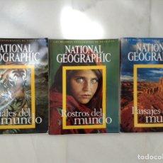 Coleccionismo de National Geographic: NATIONAL GEOGRAPHIC LOTES 3 ALBUMES DE FOTOS GRAN FORMATO ROSTROS, PAISAJES Y ANIMALES DEL MUNDO. Lote 295002498