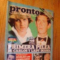 Coleccionismo de Revista Pronto: REVISTA - PRONTO Nº 469 - 4.5.1981. EN PORTADA: LADY DIANA Y CARLOS, TED KENNEDY, LIZ TAYLOR. Lote 3576890