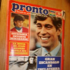 Coleccionismo de Revista Pronto: REVISTA - PRONTO Nº 550 - 22.11.1982. EN PORTADA: EL PRINCIPE ANDRES. Lote 3577616