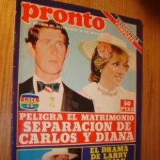 Coleccionismo de Revista Pronto: REVISTA - PRONTO Nº 550 - 22.11.1982. EN PORTADA: CARLOS Y DIANA. Lote 3577749