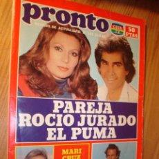 Coleccionismo de Revista Pronto: REVISTA - PRONTO Nº 525 - 31.5.1982. EN PORTADA: ROCIO JURADO, EL PUMA, JULIO IGLESIAS, MARI CRUZ.. Lote 3584236