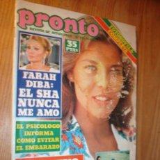 Coleccionismo de Revista Pronto: REVISTA - PRONTO Nº 435 - 25.8.1980. EN PORTADA: CAROLINA DE MONACO, POSTER JULIO IGLESIAS, FARAH. Lote 3584553