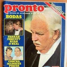 Coleccionismo de Revista Pronto: PRONTO Nº 545 FECHA 18/10/82 EN PORTADA- RAINIERO GRAVEMENTE ENFERMO (2 PÁGINAS). Lote 17114374