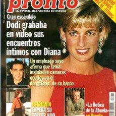 Coleccionismo de Revista Pronto: PRONTO Nº 1347 DIANA GRABADA POR DODI EN LA INTIMIDAD. Lote 23194223