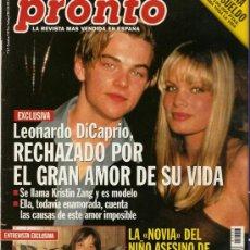 Coleccionismo de Revista Pronto: PRONTO Nº 1353 LEONARDO DICRAPIO RECHAZADO EN EL AMOR. Lote 26141013