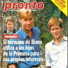 Coleccionismo de Revista Pronto: PRONTO Nº 1358 LOS HIJOS DE DIANA UTILIZADOS POR SU TÍO. Lote 26799592
