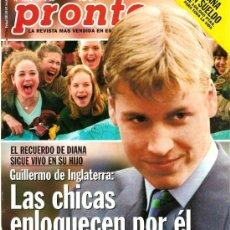 Coleccionismo de Revista Pronto: PRONTO Nº 1354 GUILLERMO DE INGLATERRA PROVOCA PASIONES. Lote 26490918