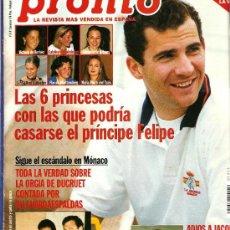 Coleccionismo de Revista Pronto: PRONTO Nº 1313 6 PRINCESAS PARA EL PRÍNCIPE. Lote 26637970
