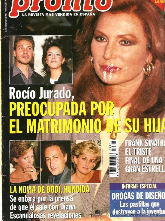 PRONTO Nº 1321 ROCIO JURADO PREOCUPADA POR ROCIÍTO (Papel - Revistas y Periódicos Modernos (a partir de 1.940) - Revista Pronto)