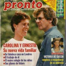 Coleccionismo de Revista Pronto: PRONTO Nº 1337 CAROLINA Y ERNESTO, CHABELI SE CASA. Lote 25666494