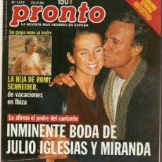 Coleccionismo de Revista Pronto: PRONTO Nº 1372 JULIO IGLESIAS SE CASA CON MIRANDA. Lote 26288822