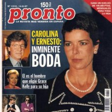Coleccionismo de Revista Pronto: PRONTO Nº 1310 CAROLINA Y ERNESTO INMINENTE BODA. Lote 27406539