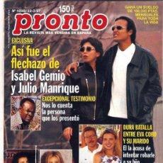 Coleccionismo de Revista Pronto: PRONTO Nº 1298 EL FLECHAZO DE ISABEL GEMIO Y JULIO. Lote 22764447