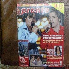 Coleccionismo de Revista Pronto: REVISTA PRONTO 1573 JUNIO 2002 PORTADA BUSTAMANTE /BISBAL CARMINA, CORDOBÉS. Lote 11859385