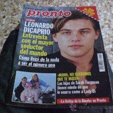 Coleccionismo de Revista Pronto: REVISTA PRONTO AÑO 1998 PORTADA LEONARDO DI CAPRIO. Lote 20436407