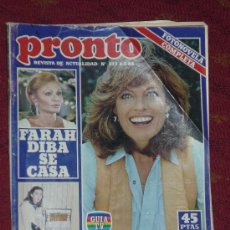 Coleccionismo de Revista Pronto: REVISTA PRONTO 8 3 -1982. Lote 14812444
