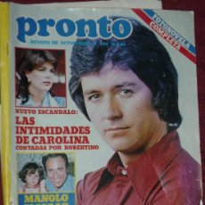 Coleccionismo de Revista Pronto: REVISTA PRONTO 13 9-1982. Lote 14812458