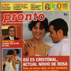 Coleccionismo de Revista Pronto: REVISTA PRONTO Nº 1919 - 14-2-2009 - ( EN PORTADA: ROSA LÓPEZ Y SU NOVIO CRISTÓBAL · 104 PÁGINAS). Lote 15373789