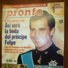 Coleccionismo de Revista Pronto: PRONTO - 2000 Nº 1478 - ANA OBREGON - CLAUDIA SCHIFFER Y TIM JEFFRIES - BELEN ESTEBAN . Lote 136813957