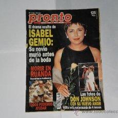 Coleccionismo de Revista Pronto: REVISTA PRONTO NUMERO 1161 , 6 DE AGOSTO DE 1994 . INCOMPLETA .. Lote 241443125
