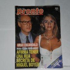 Coleccionismo de Revista Pronto: REVISTA PRONTO NUMERO 1165 , 3 DE SEPTIEMBRE DE 1994 . INCOMPLETA .. Lote 21522506