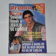 Coleccionismo de Revista Pronto: REVISTA PRONTO NUMERO 1176 , 19 DE NOVIEMBRE DE 1994 . INCOMPLETA .. Lote 21522563