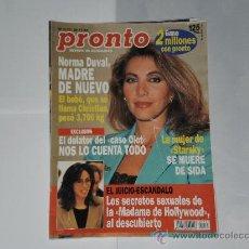 Coleccionismo de Revista Pronto: REVISTA PRONTO NUMERO 1177 , 26 DE NOVIEMBRE 1994 . INCOMPLETA .. Lote 21522609