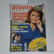 Coleccionismo de Revista Pronto: REVISTA PRONTO NUMERO 1181 , 24 DE DICIEMBRE DE 1994 . INCOMPLETA .. Lote 21522652