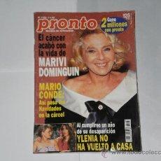 Coleccionismo de Revista Pronto: REVISTA PRONTO NUMERO 1183 , 7 DE ENERO DE 1995 . INCOMPLETA .. Lote 21522755