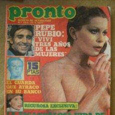 Coleccionismo de Revista Pronto: PRONTO 21-4-77 BARBARA REY - PEPE RUBIO - MARIA JOSE CANTUDO - RICHARD COCCIANTE. Lote 26489986
