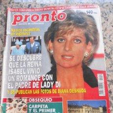 Coleccionismo de Revista Pronto: REVISTAS PRONTO. ALUSION A LADY DI ,EN PORTADA.. Lote 28159653