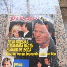 Coleccionismo de Revista Pronto: REVISTA PRONTO, JULIO IGLESIAS EN PORTADA. . Lote 28233282