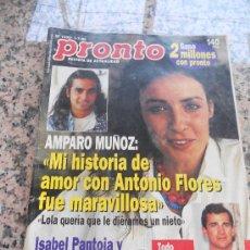 Coleccionismo de Revista Pronto: REVISTA PRONTO, EN PORTADA AMPARO MUÑOZ.. Lote 28233290