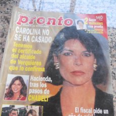 Coleccionismo de Revista Pronto: REVISTA PRONTO, EN PORTADA CAROLINA DE MONACO.. Lote 28233292