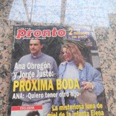 Coleccionismo de Revista Pronto: REVISTA PRONTO, EN PORTADA ANA OBREGON. Lote 28233316