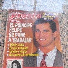 Coleccionismo de Revista Pronto: REVISTA PRONTO, EN PORTADA EL PRINCIPE FELIPE. Lote 28233329