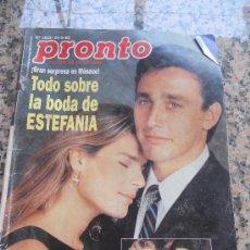 Coleccionismo de Revista Pronto: REVISTA PRONTO, EN PROTADA ESTEFANIA DE MONACO. Lote 28233344