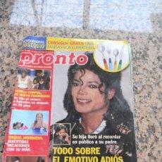 Coleccionismo de Revista Pronto: REVISTA PRONTO, EN PORTADA MICHAEL JACKSON. Lote 28233352