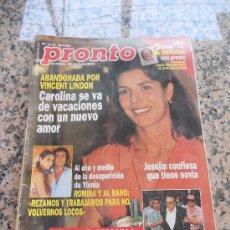 Coleccionismo de Revista Pronto: REVISTA PRONTO , EN PORTADA CAROLINA DE MONACO.. Lote 28233363