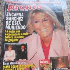 Coleccionismo de Revista Pronto: REVISTA PRONTO, EN PORTADA ENCARNA SANCHEZ. Lote 28233415