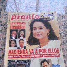 Coleccionismo de Revista Pronto: REVISTA PRONTO, EN PORTADA ISABEL PREYSLER. Lote 28233430