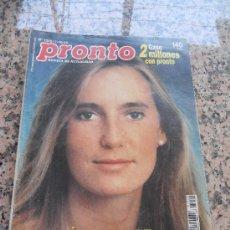 Coleccionismo de Revista Pronto: REVISTA PRONTO, EN PORTADA, ANABEL SEGURA.. Lote 28233436