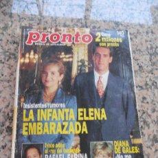 Coleccionismo de Revista Pronto: REVISTA PRONTO, EN PORTADA , LA INFANTA ELENA. Lote 28233457