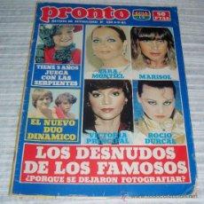 Coleccionismo de Revista Pronto: REVISTA PRONTO Nº 539 AÑO 1982. Lote 30071249