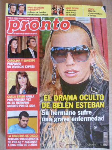 REVISTA; PRONTO - Nº 1.962 - 12.12. 2009 (Papel - Revistas y Periódicos Modernos (a partir de 1.940) - Revista Pronto)